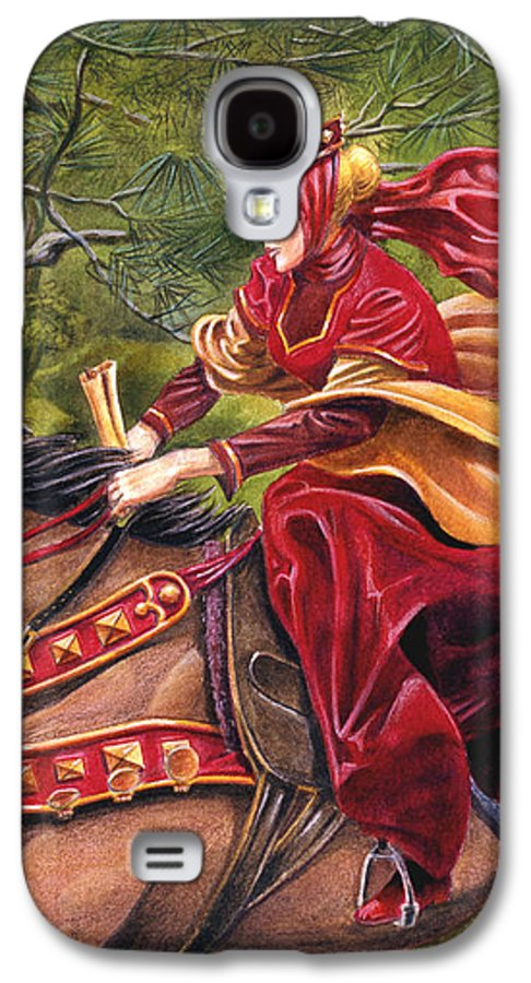 Camelot Galaxy S4 Case featuring the painting Lady Lunete by Melissa A Benson