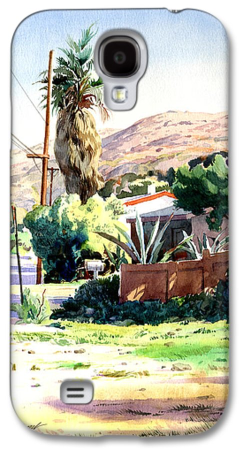 Watercolor Galaxy S4 Case featuring the painting Laguna Canyon Palm by John Norman Stewart