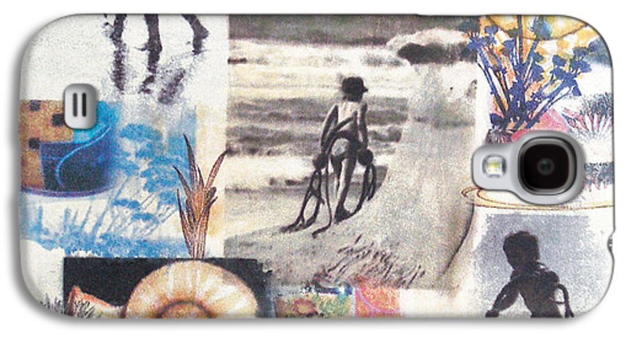 Abstract Galaxy S4 Case featuring the painting Lajolla by Valerie Meotti