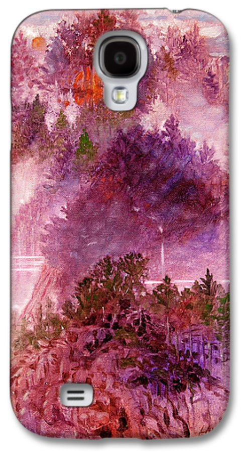 Landscape Galaxy S4 Case featuring the painting Lake Memories by John Lautermilch