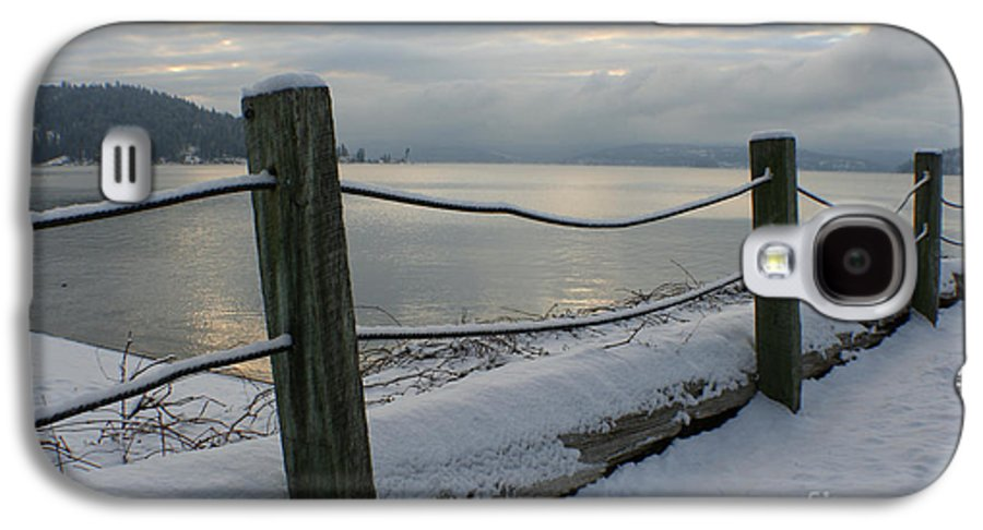 Fence Galaxy S4 Case featuring the photograph Lake Snow by Idaho Scenic Images Linda Lantzy