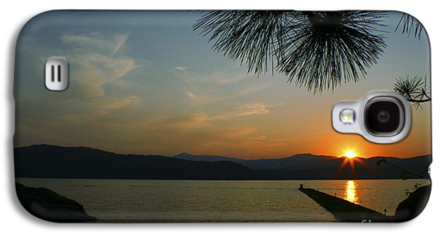 Sunset Galaxy S4 Case featuring the photograph Lake Sunset by Idaho Scenic Images Linda Lantzy