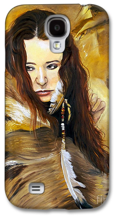 Southwest Art Galaxy S4 Case featuring the painting Lament by J W Baker