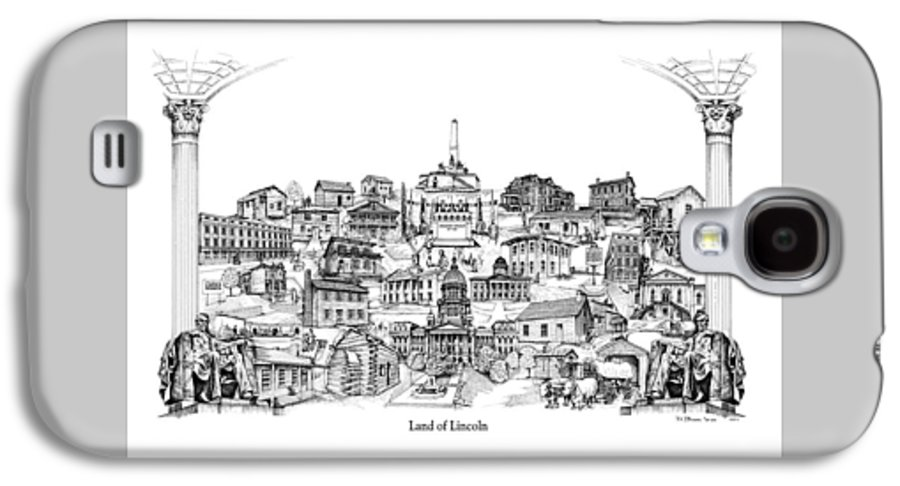 City Drawing Galaxy S4 Case featuring the drawing Land Of Lincoln by Dennis Bivens