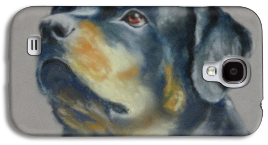 Dog Galaxy S4 Case featuring the painting Lars by Carol Mueller