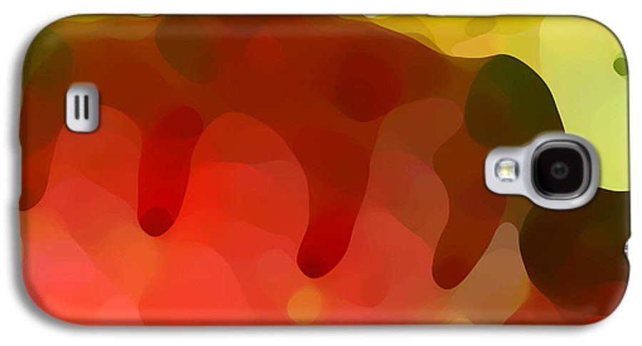 Abstract Galaxy S4 Case featuring the painting Las Tunas Ridge by Amy Vangsgard