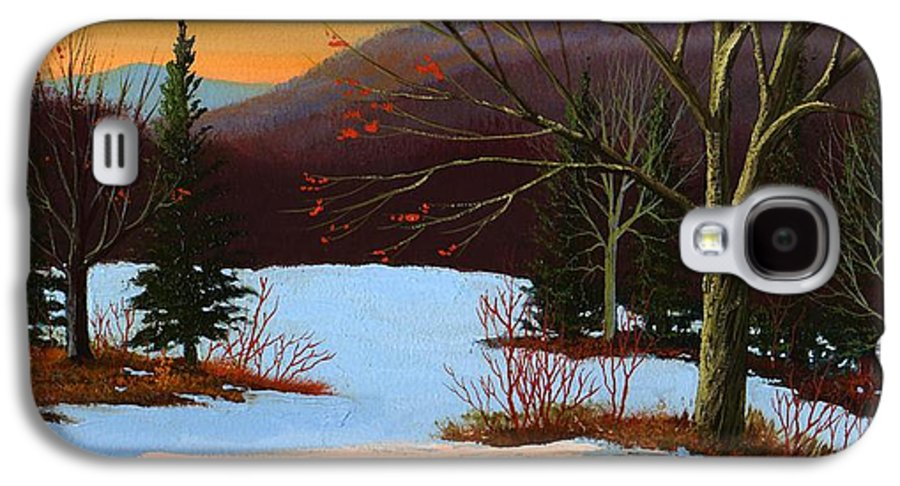 Winter Galaxy S4 Case featuring the painting Last Light Of Day by Frank Wilson