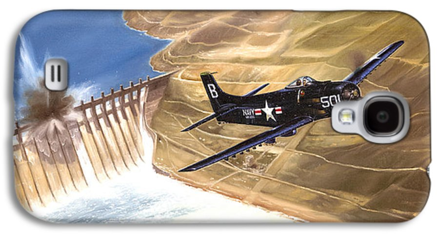 Military Galaxy S4 Case featuring the painting Last Of The Dambusters by Marc Stewart