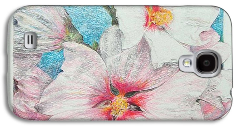Flower Galaxy S4 Case featuring the painting Lavater by Muriel Dolemieux