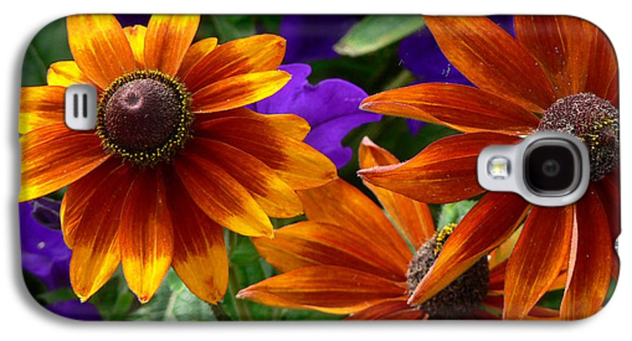 Flowers Galaxy S4 Case featuring the photograph Layers Of Color by Larry Keahey
