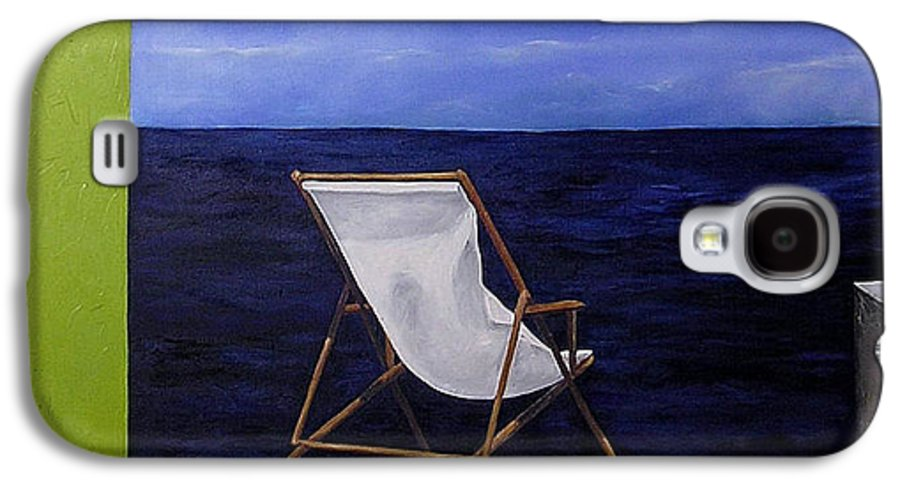 Seascape Galaxy S4 Case featuring the painting Lazy Days by Trisha Lambi