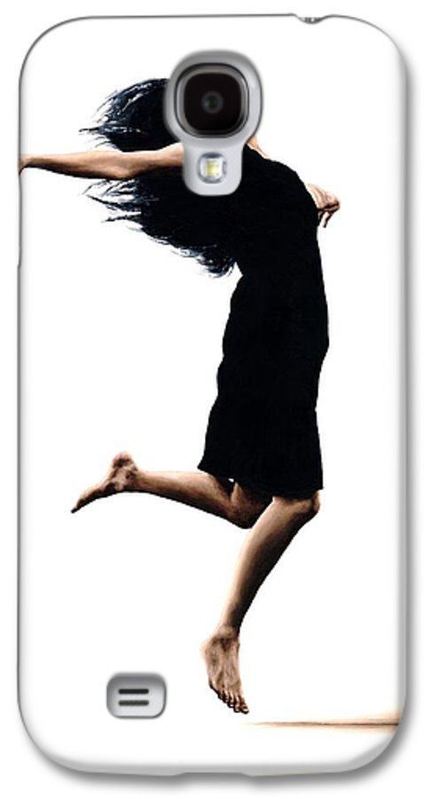 Ballet Galaxy S4 Case featuring the painting Leap Into The Unknown by Richard Young