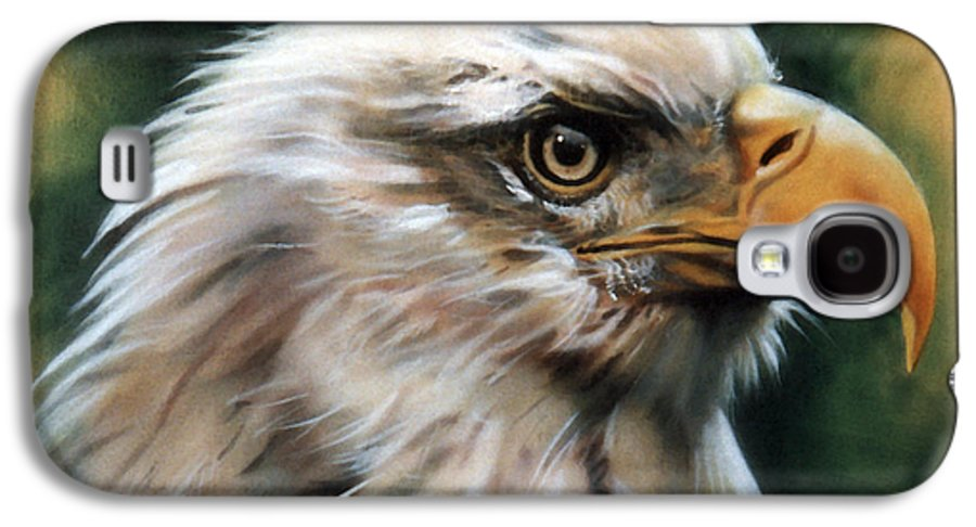 Southwest Art Galaxy S4 Case featuring the painting Leather Eagle by J W Baker