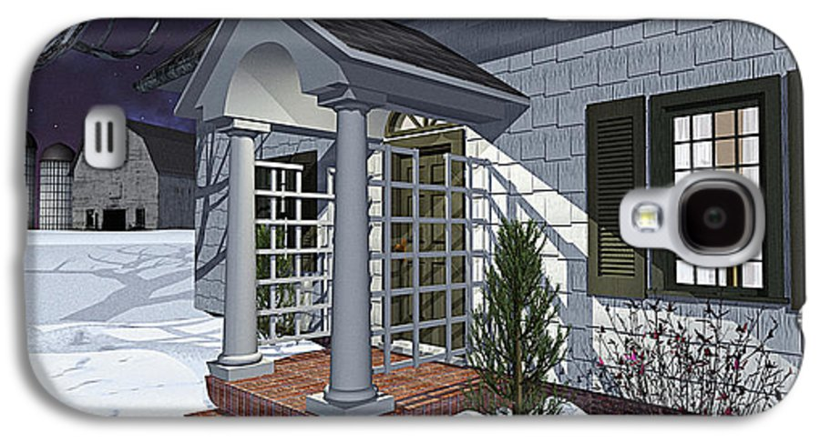 Porch Galaxy S4 Case featuring the photograph Leave The Porch Light On by Peter J Sucy