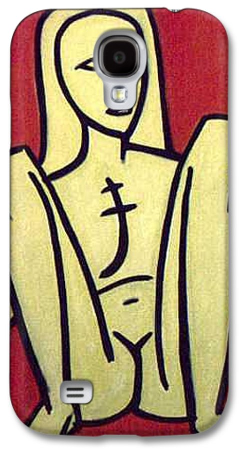 Nude Galaxy S4 Case featuring the painting Legs by Thomas Valentine