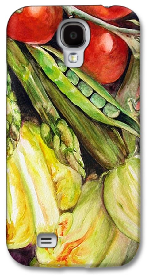 Still Life Galaxy S4 Case featuring the painting Legumes by Muriel Dolemieux