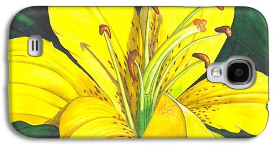 Lily Galaxy S4 Case featuring the painting Lemon Lily by Catherine G McElroy