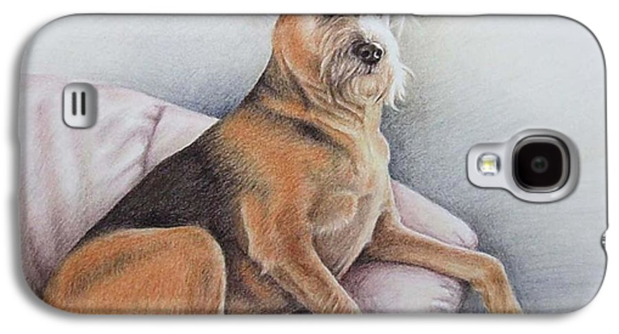 Dog Galaxy S4 Case featuring the pastel Lena by Nicole Zeug