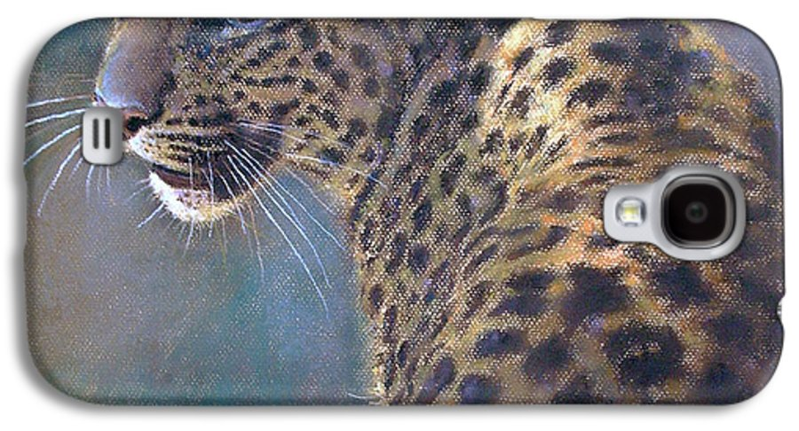 Cats Galaxy S4 Case featuring the pastel Leopard by Iliyan Bozhanov