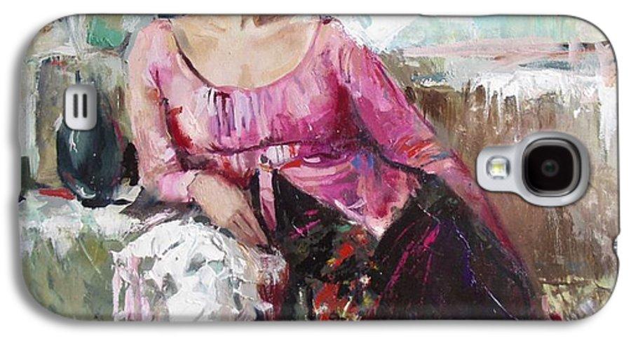 Ignatenko Galaxy S4 Case featuring the painting Lera by Sergey Ignatenko