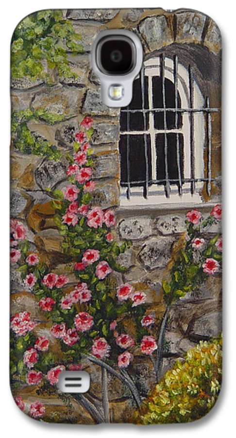 Window Galaxy S4 Case featuring the painting Les Arcs Sur Argens by Quwatha Valentine
