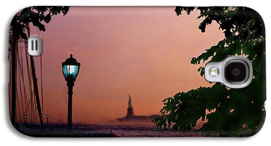 Seascape Galaxy S4 Case featuring the digital art Liberty Fading Seascape by Steve Karol