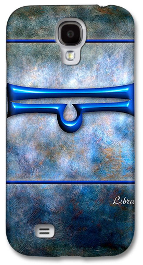 Art Galaxy S4 Case featuring the pyrography Libra by Mauro Celotti