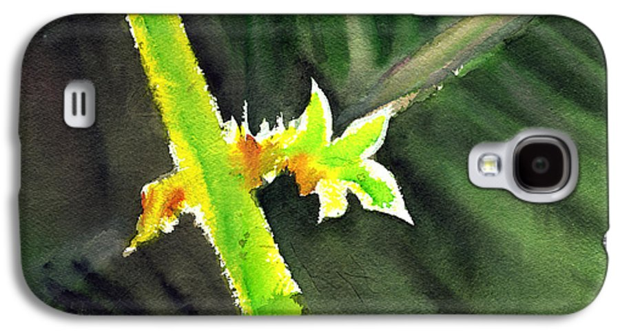 Water Color Galaxy S4 Case featuring the painting Light Branch by Anil Nene