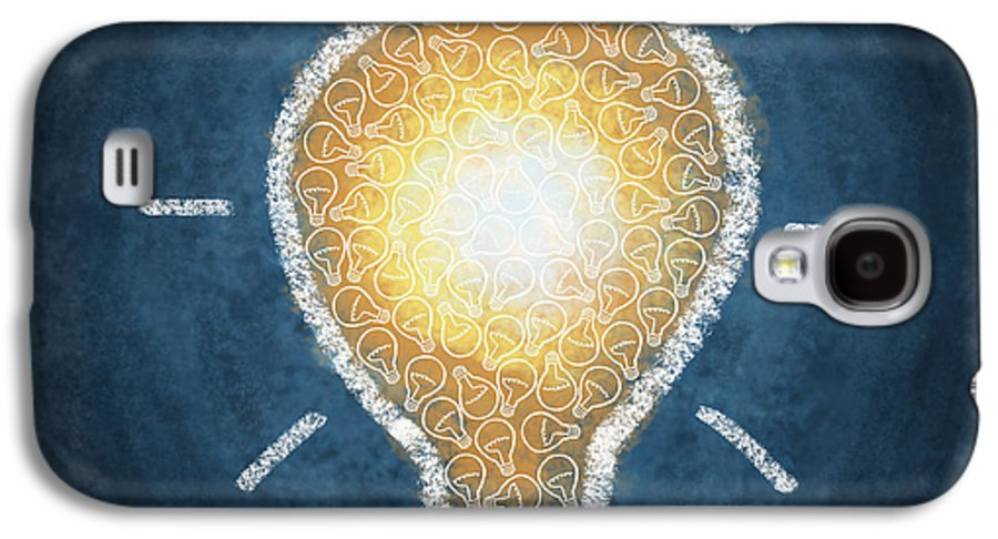 Art Galaxy S4 Case featuring the photograph Light Bulb Design by Setsiri Silapasuwanchai