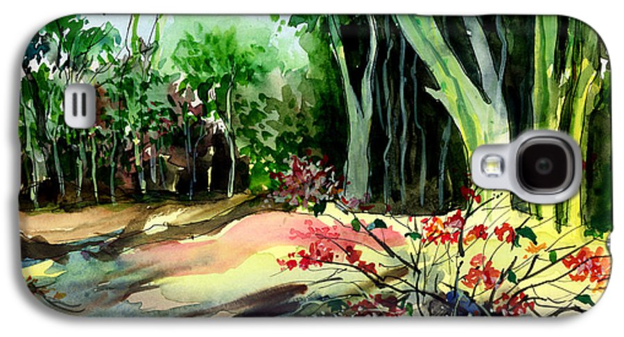 Watercolor Galaxy S4 Case featuring the painting Light In The Woods by Anil Nene