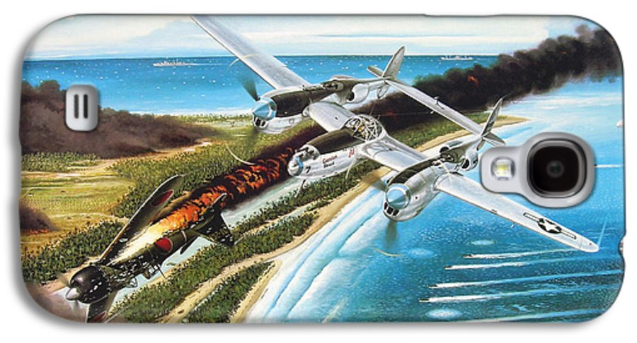 Aviation Galaxy S4 Case featuring the painting Lightning Over Mindoro by Marc Stewart