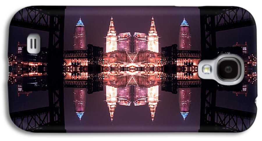 Cleveland Galaxy S4 Case featuring the photograph Lights Buildings And Bridges by Kenneth Krolikowski