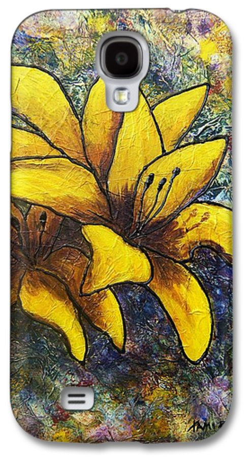 Flowers Galaxy S4 Case featuring the painting Lilies by Tami Booher