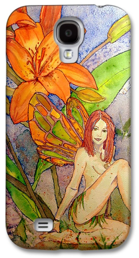 Faerie Galaxy S4 Case featuring the painting Lillian Keeper Of Both Wealth And Pride - Watercolor by Donna Hanna