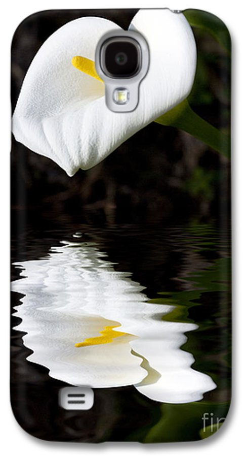 Lily Reflection Flora Flower Galaxy S4 Case featuring the photograph Lily Reflection by Sheila Smart Fine Art Photography