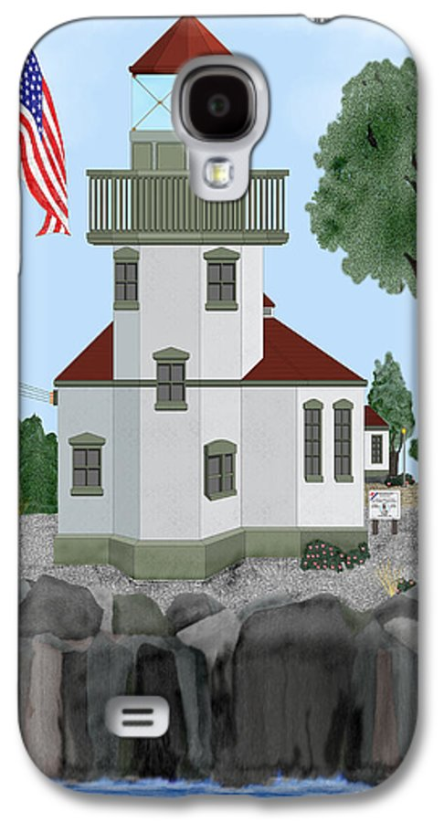 Lighthouses Galaxy S4 Case featuring the painting Lime Kiln Light On San Juan Island by Anne Norskog