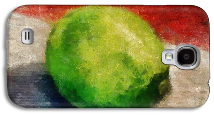Lime Galaxy S4 Case featuring the painting Lime Still Life by Michelle Calkins