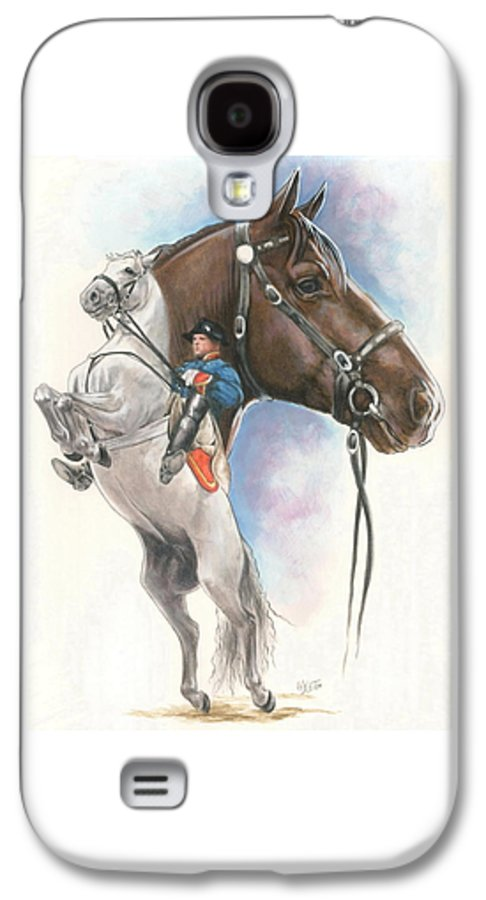 Spanish Riding School Galaxy S4 Case featuring the mixed media Lippizaner by Barbara Keith