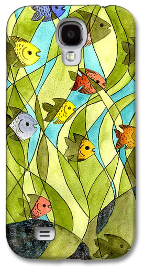 Fish Galaxy S4 Case featuring the painting Little Fish Big Pond by Catherine G McElroy