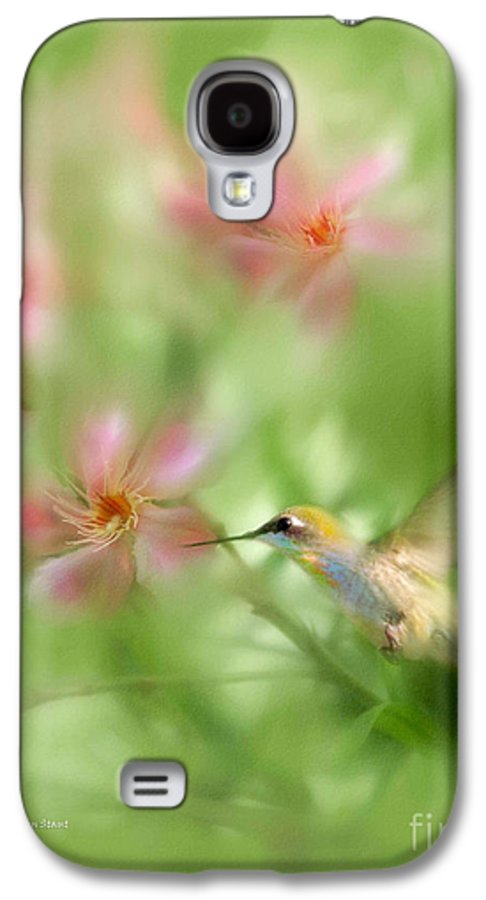 Garden Hummingbird Floral Green Tropical Oleander Galaxy S4 Case featuring the photograph Little Miracles by Carolyn Staut