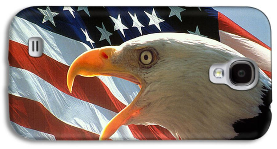 Eagle Galaxy S4 Case featuring the photograph Live Free Or Die by Carl Purcell