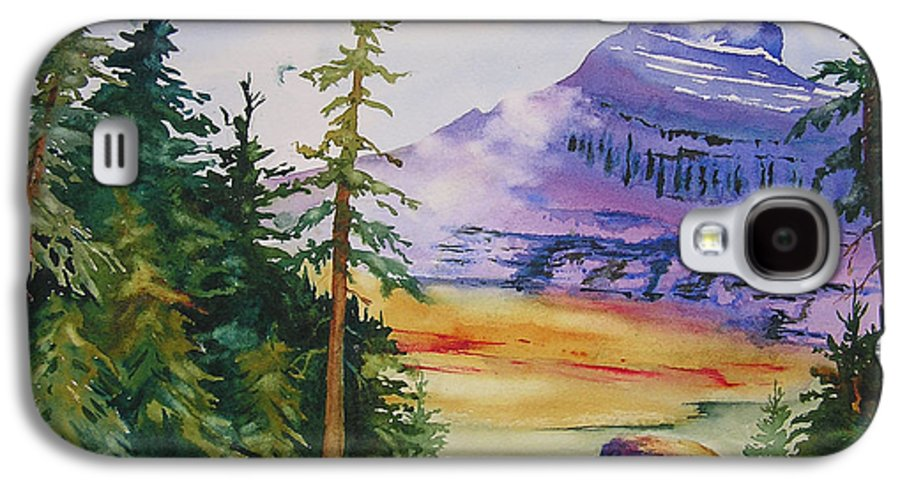 Landscape Galaxy S4 Case featuring the painting Logan Pass by Karen Stark