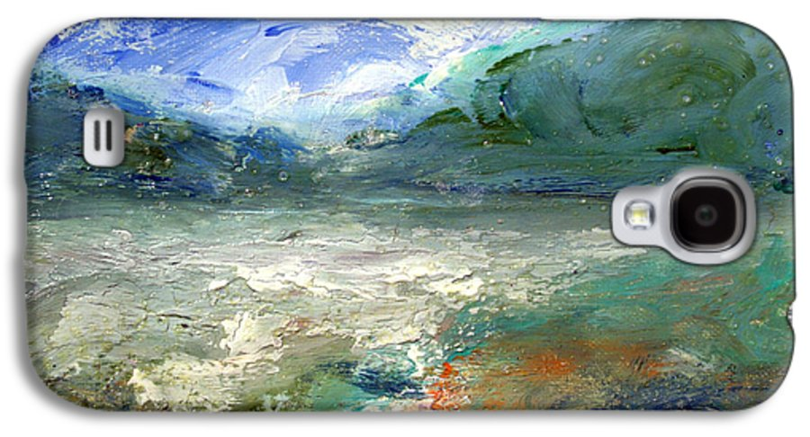 Lake Galaxy S4 Case featuring the painting Lombard Lake by Mario Zampedroni