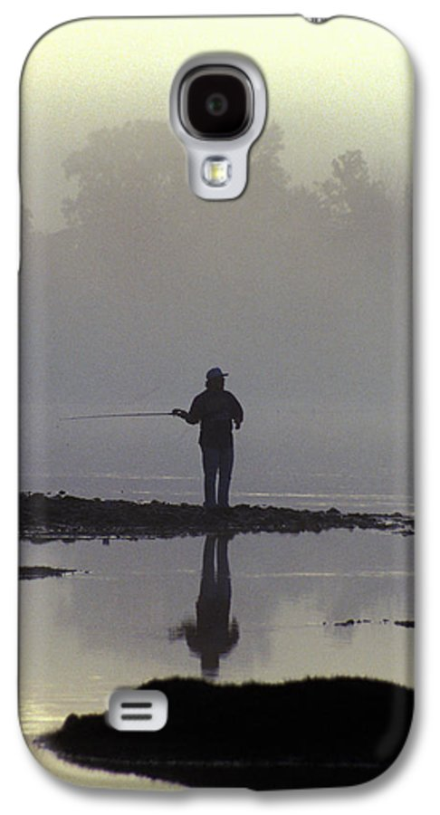 Early Galaxy S4 Case featuring the photograph Lone Fisherman by Carl Purcell