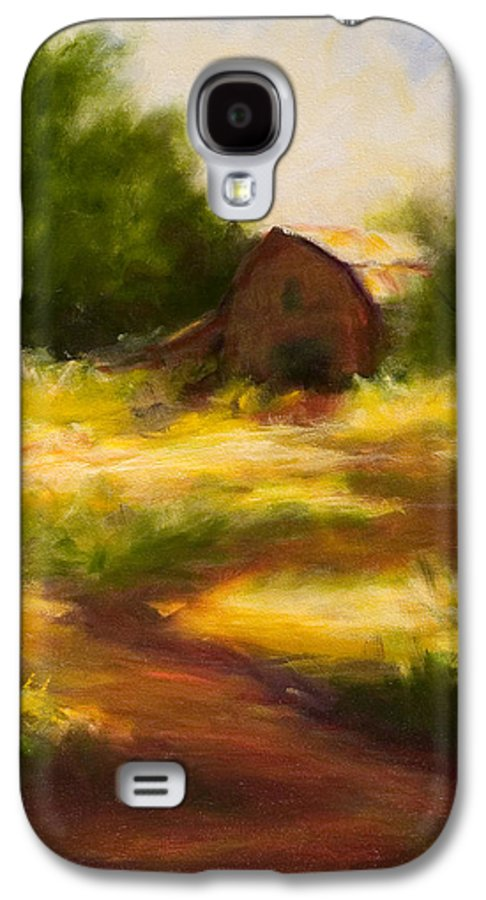 Landscape Galaxy S4 Case featuring the painting Long Road Home by Shannon Grissom