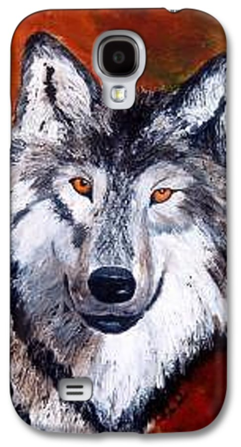 Palette Knife Galaxy S4 Case featuring the painting Look Into My Eyes by Tami Booher