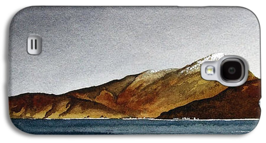 Seascape Galaxy S4 Case featuring the painting Looking Towards Arran From Skipness by Paul Dene Marlor