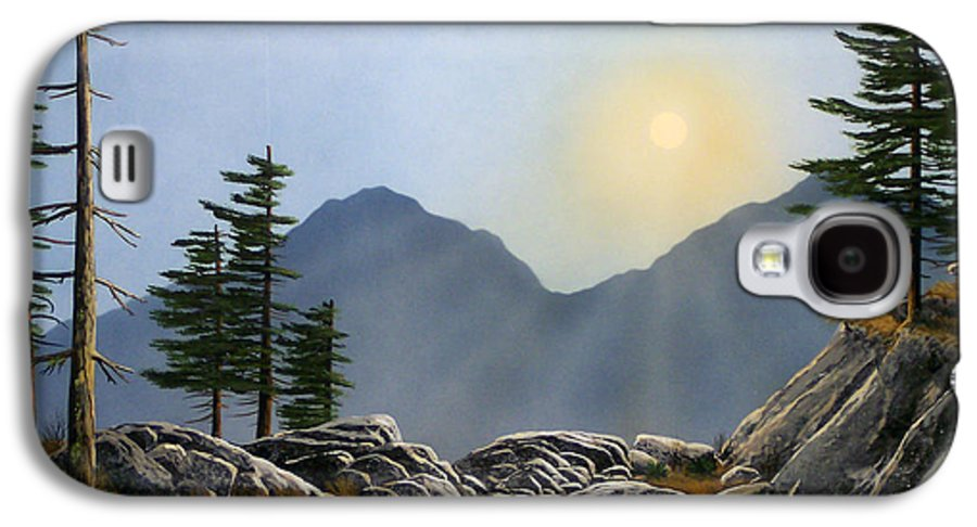 Landscape Galaxy S4 Case featuring the painting Lookout Rock by Frank Wilson