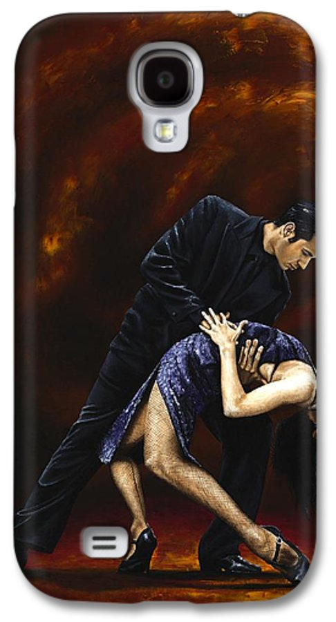 Tango Galaxy S4 Case featuring the painting Lost In Tango by Richard Young