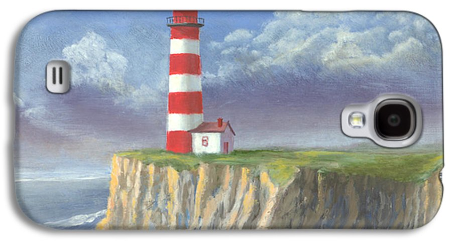 Light Galaxy S4 Case featuring the painting Lost Point Light by Jerry McElroy
